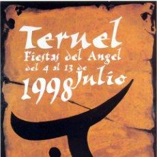 Folletos de turismo: TERUEL PROGRAMA FIESTAS DEL ANGEL 1998. Lote 47045243