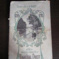 Folletos de turismo: GUIA DE ENVIRONS PARIS 1904. Lote 47139740