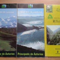 Folletos de turismo: LOTE DE 3 GUÍAS / FOLLETOS ASTURIAS. 1990-1993. Lote 47182072