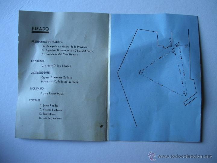 Folletos de turismo: folleto regatas de monotipos organizadas por el club nautico de valencia, junio 1934 - Foto 3 - 47185048