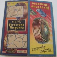 Folletos de turismo: FIRESTONE 1941 ANTIGUO MAPA DESPLEGABLE DE FIRESTONE MADRID GUADALAJARA ZARAGOZA SORIA TERUEL CUENCA. Lote 47281214