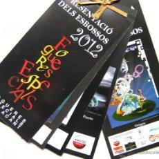 Folletos de turismo: PRESENTACIÓN DE BOCETOS DE LAS HOGUERAS ESPECIALES 2012 DE ALICANTE 12 PAGINAS. Lote 47296869