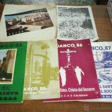 Folletos de turismo: PORFOLIOS FIESTA DE LUANCO ASTURIAS ,AÑOS 1985-6-7-8. Lote 47381589