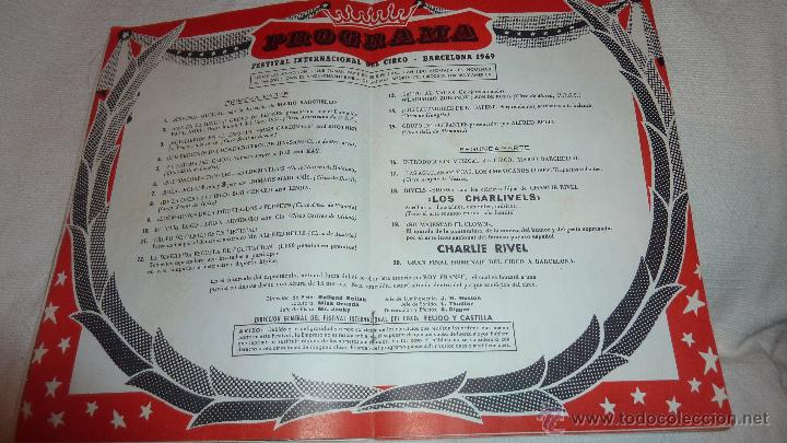 Folletos de turismo: Folleto programa Fiestas de la Merce . Festival mundial del circo . Charlie Rivel 1969 Charlivels - Foto 4 - 47417835