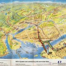 Folletos de turismo: PLANO GUIA MANHATTAN 1987. Lote 47434507