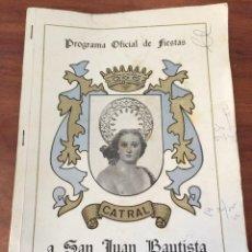 Folletos de turismo: PROGRAMA FIESTAS CATRAL ALICANTE 1977. Lote 47566779