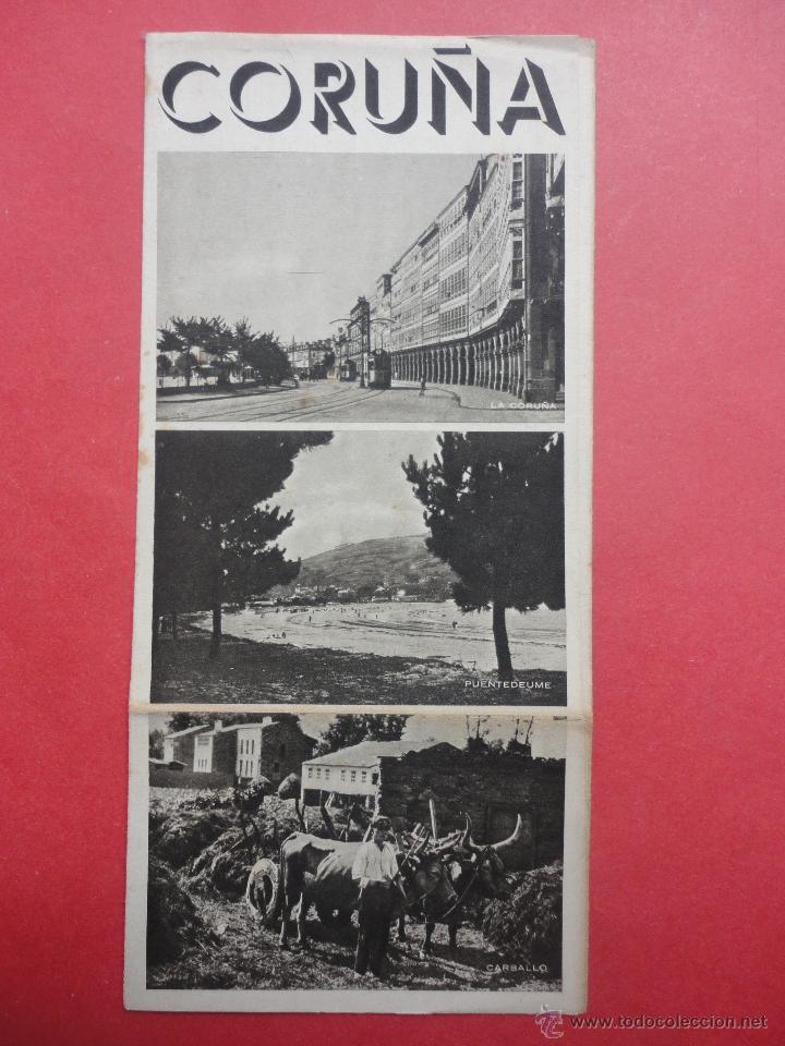 FOLLETO TURISMO. CORUÑA (Coleccionismo - Folletos de Turismo)