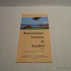Folletos de turismo: MANIFESTACIONES TURISTICAS DE CANTABRIA 1983. Lote 47629606