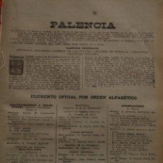 Folletos de turismo: PALENCIA AÑO 1947 -PARTIDO JUDICIALES ASTUDILLO CARRION CONDES CERVERA PISUERGA FRECHILLA SALDAÑA. Lote 47850525