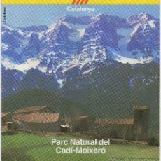 Folletos de turismo: PARC NATURAL DEL CADÍ-MOIXERÓ, AÑOS 80. Lote 47863271