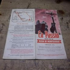 Folletos de turismo: 3615.- OLESA DE MONTSERRAT-LA PASSIO TEMPORADA 1956-TRIPTIC. Lote 47918521