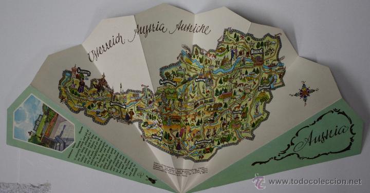 FOLLETO TURISMO AUSTRIA TROQUELADO EN FORMA DE ABANICO. AÑOS 50 (Coleccionismo - Folletos de Turismo)
