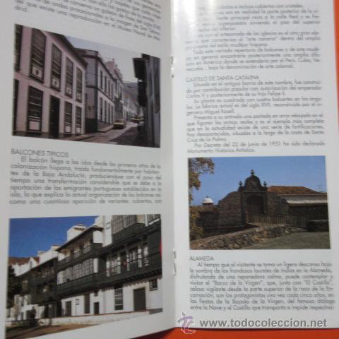 Folletos de turismo: FOLLETO LIBRITO SANTA CRUZ DE LA PALMA 1993 CABILDO INSULAR LA PALMA EXCELENTES FOTOS - 20 PAGINAS - Foto 2 - 48522441