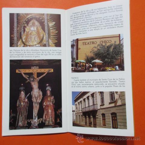 Folletos de turismo: FOLLETO LIBRITO SANTA CRUZ DE LA PALMA 1993 CABILDO INSULAR LA PALMA EXCELENTES FOTOS - 20 PAGINAS - Foto 3 - 48522441