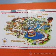 Folletos de turismo: PUBLICIDAD 4 PAGINAS PORT AVENTURA 1997. Lote 48523267