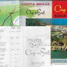 Folletos de turismo: FOLLETO TRÍPTICO * HOTEL CAP SA SAL + DÍPTICO CON LISTA DE PRECIOS * AÑOS 60. Lote 48548398