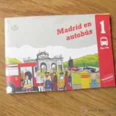 Folletos de turismo: FOLLETO CON LAS LINEAS DE AUTOBUSES DE MADRID DE MAYO DE 1994 - MADRID EN AUTOBUS. Lote 48585520