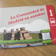 Folletos de turismo: FOLLETO CON LAS LINEAS DE AUTOBUSES - LA COMUNIDD DE MADRID EN AUTOBUS - MAYO 1994. Lote 48599430
