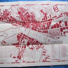 Folhetos de turismo: PLANO DE TORTOSA. AUTORIZADO POR EL EXCMO. AYUNTAMIENTO. IMP. PERI, TORTOSA, 1970.. Lote 48915694