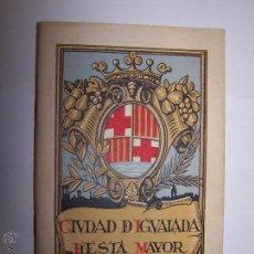 Folletos de turismo: CIUDAD DE IGUALADA. FIESTA MAYOR 1950. PROGRAMA DE ACTOS.. Lote 48991237