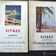 Folletos de turismo: LOTE 2 FOLLETO PROGRAMA SITGES FIESTA DE CORPUS 1956 Y 1958 PUBLICIDAD FOTOS 23 /17 CM. Lote 49249974