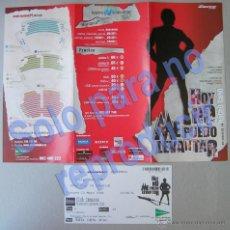 Folletos de turismo: HOY NO ME PUEDO LEVANTAR-MUSICAL DE NACHO CANO CANCIONES DE MECANO, TEATRO MOVISTAR DE MADRID 2006. Lote 28234467