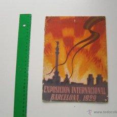 Folletos de turismo: FOLLETO EXPOSICIÓN INTERNACIONAL - BARCELONA 1929 - PLAN GENERAL DEL CERTAMEN. Lote 49858343