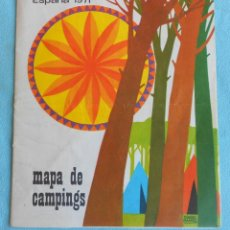 Folletos de turismo: MAPA DE CAMPINGS 1971 DESPLEGABLE. Lote 49947412
