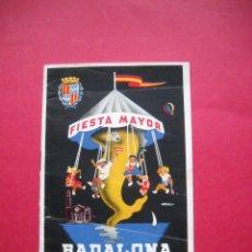 Folletos de turismo: BADALONA - 1958 - FIESTA MAYOR . Lote 50054135