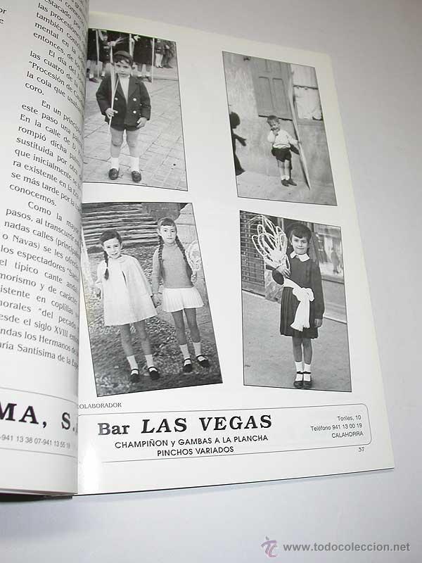 Folletos de turismo: SEMANA SANTA CALAGURRITANA, 1999. Programa Oficial de la Cofradía de la Sta. Vera Cruz. CALAHORRA. - Foto 4 - 50116841