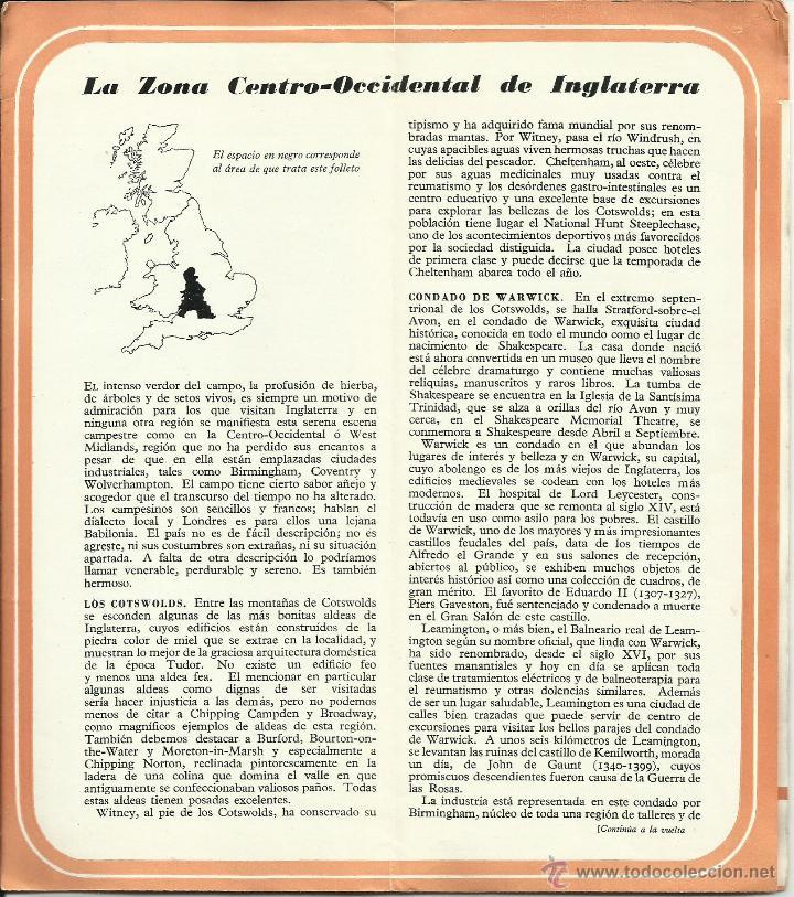 Folletos de turismo: Gran Bretaña: Antigua Guía-Plano *OCASIÓN ÚNICA* - Foto 3 - 50166725