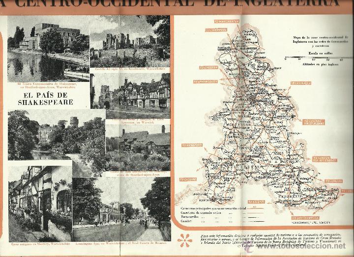 Folletos de turismo: Gran Bretaña: Antigua Guía-Plano *OCASIÓN ÚNICA* - Foto 4 - 50166725
