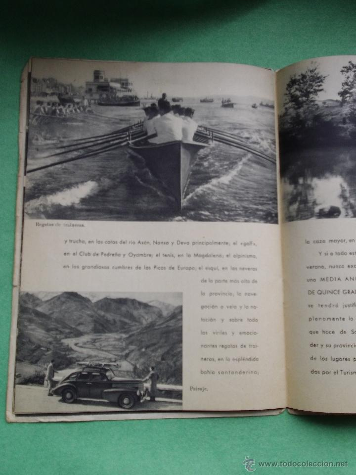 Folletos de turismo: Precioso folleto Santander y su provincia original años 30-40 publicidad turismo Cantabria Altamira - Foto 6 - 50269524