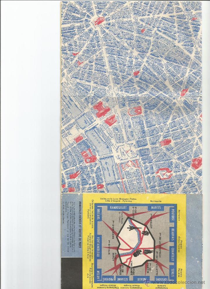 Folletos de turismo: ANTIGUO PLANO DEL METRO DE PARIS A COLOR Y DE TODA LA CIUDAD - Foto 2 - 50469052