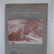 Folletos de turismo: CUEVAS DE ARTA. JOSE VIDAL ISBERN. MALLORCA. 1929. Lote 50626592