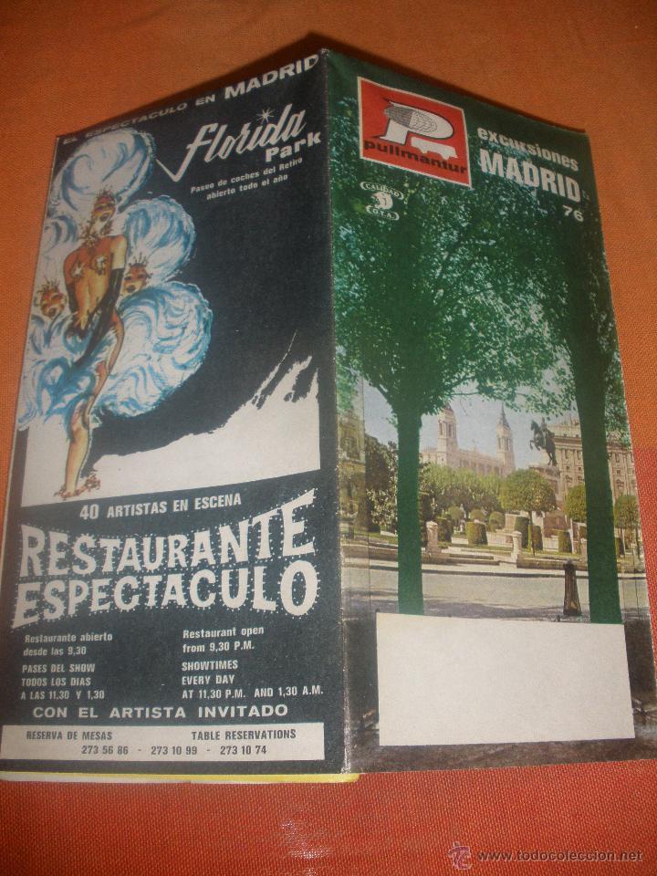MADRID - EXCURSIONES - (INCLUYE PLANO) - PULLMANTUR - AÑO 1976 - (Coleccionismo - Folletos de Turismo)