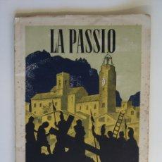Folletos de turismo: LA PASSIO OLESA DE MONTSERRAT 1944. Lote 50948287