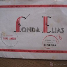 Folletos de turismo: MORELLA. 1962. FOLLETO-POSTAL FONDA ELIAS.. Lote 50967868