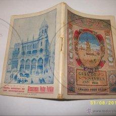 Folletos de turismo: SEVILLA GUIA CALLEJERO 1941. Lote 50998598