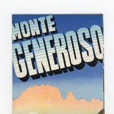Folletos de turismo: MONTE GENEROSO, FOLLETO INFORMATIVO AÑO 1948. Lote 51163380