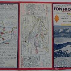 Folletos de turismo: AÑO 1949. TRÍPTICO 'FONT-ROMEU. SOLEIL ET NEIGE'. TURISMO. ESQUÍ. PIRINEOS ORIENTALES. CERDANYA. Lote 51525998