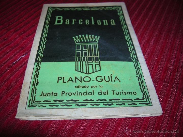 PLANO GUIA DE BARCELONA (Coleccionismo - Folletos de Turismo)