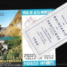 Folletos de turismo: FOLLETO * BALNEARIO DE PANTICOSA * CON PRECIOS 1966. Lote 51740765