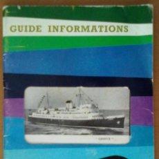Folletos de turismo: FOLLETO SNCP 1964 1985 GUIA DE INFORMACIONES ABUNDANTE PUBLICIDAD DE EPOCA TABACO Y LICORES. Lote 51849762