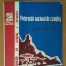 Folletos de turismo: MAPA CAMPISTA DE ESPAÑA 1958 . Lote 51850332