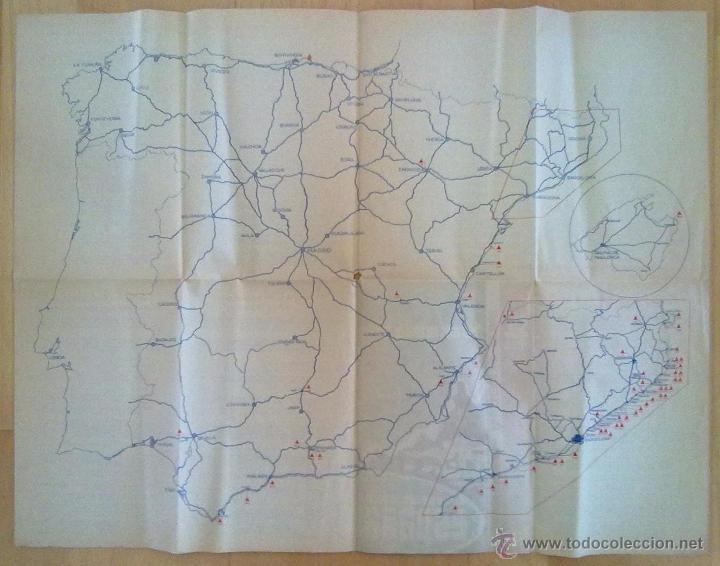 Folletos de turismo: MAPA CAMPISTA DE ESPAÑA 1958 - Foto 2 - 51850332