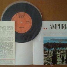 Folletos de turismo: FOLLETO TURISMO AMPURIAS (GERONA) CON DISCO 33 1/3 RPM. EN CASTELLANO. Lote 51850456
