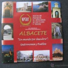 Folletos de turismo: ALBACETE UN MUNDO POR DESCUBRIR. GASTRONOMIA Y PUEBLOS.. Lote 52131918