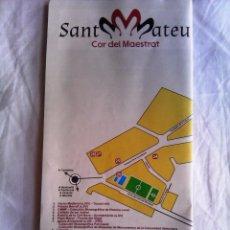 Folletos de turismo: PLANO DE SANT MATEU, COR DEL MAESTRAT EN CASTELLON - CORAZON DEL MAESTRAZGO. Lote 52170831