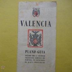 Foglietti di turismo: VALENCIA. PLANO GUÍA. ANTIGUO. Lote 52305870